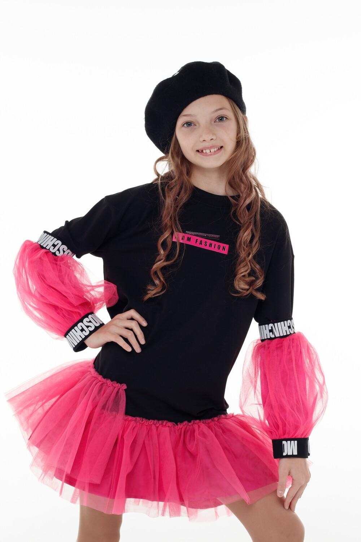 Платье ПЛ-13265-2 черный