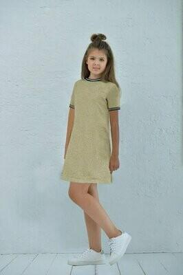 Платье д/д золото 158