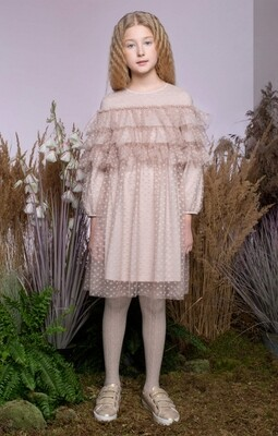 Платье д/д бежевый 30061