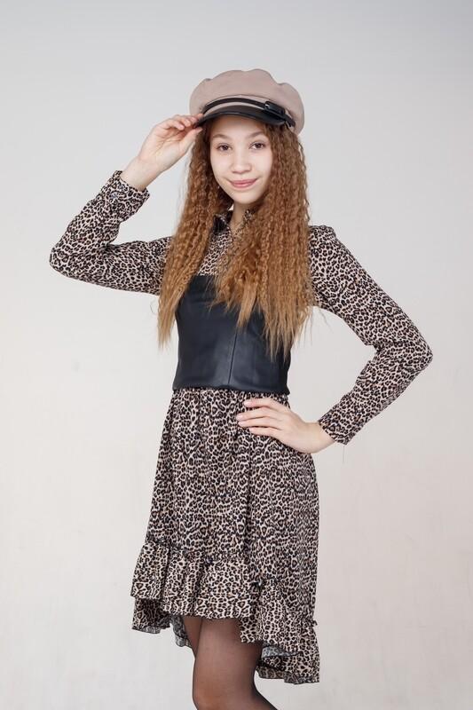 Платье леопард 185026