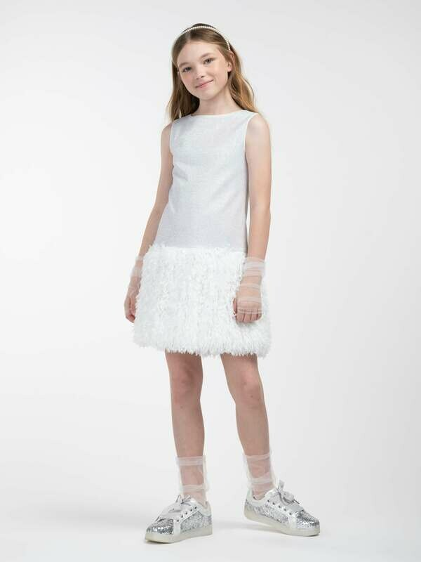 Платье д/д молочный 20520