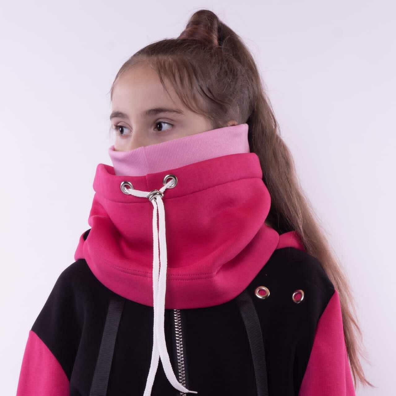 Шапка-снуд фуксия/розовый 1510710-20-ф