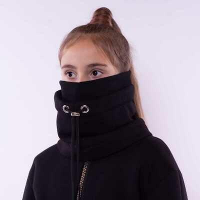 Шапка-снуд черный/черный 1510710-20