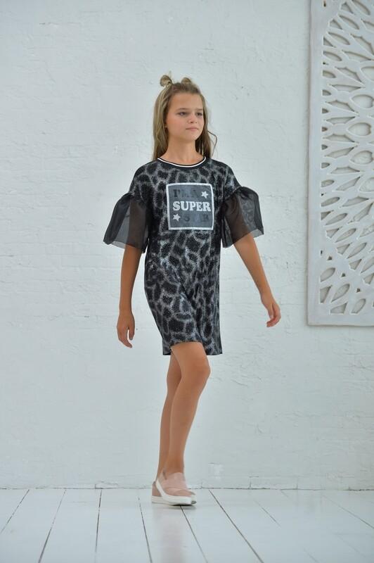 Платье д/д черный блеск 188