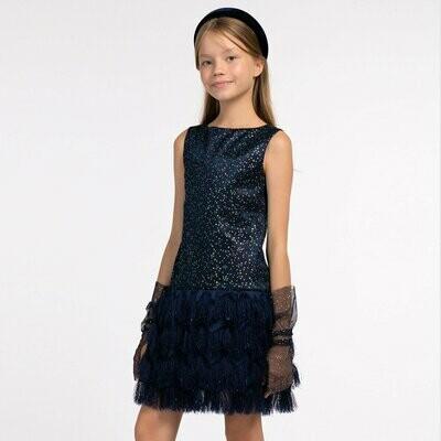 Платье д/д синий 20635