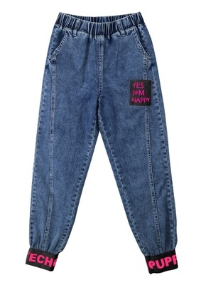 Брюки синий джинс 20950