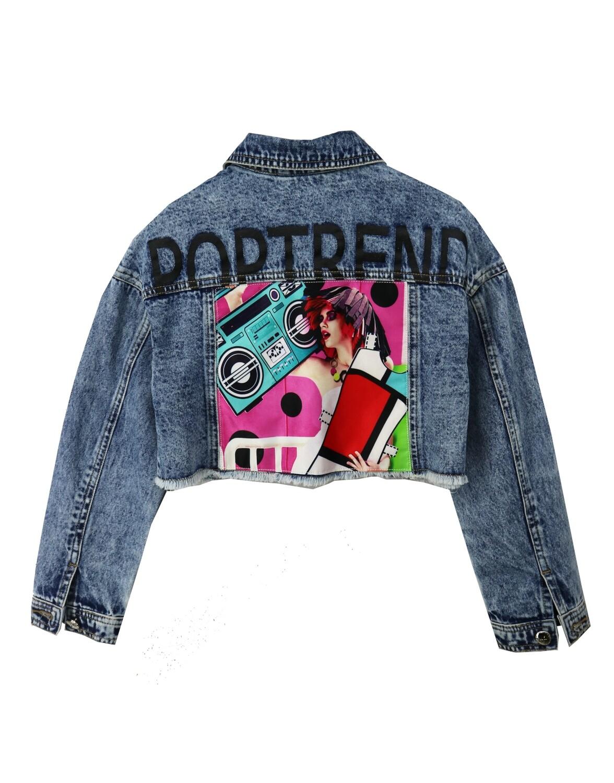 Куртка синий джинс 20953