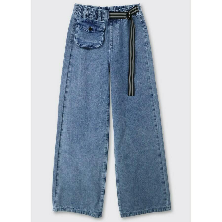 Кюлоты джинс синий 21035
