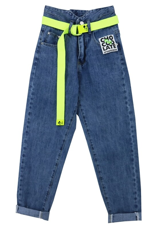 Брюки джинс синий 21047