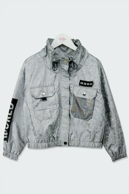 Куртка джинс. серый 21019