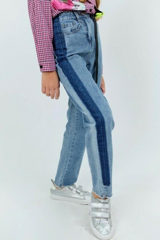Брюки синий джинс 21058