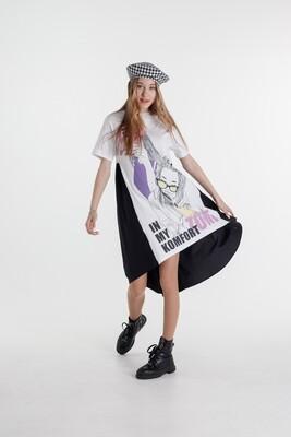 Платье д\д белый 210100