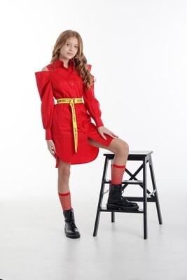 Платье д\д красный 41122