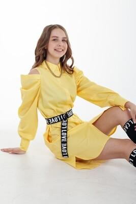 Платье д\д желтый 41123