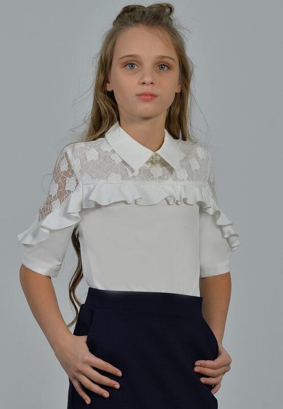 Блузка белый 60-21