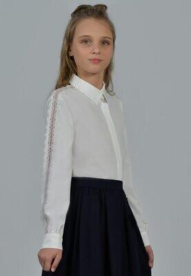 Блузка белый ( +полнота) 12+П-21