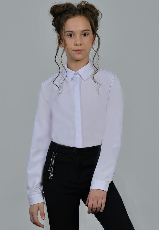 Блузка белый (+полнота) 8+П-21