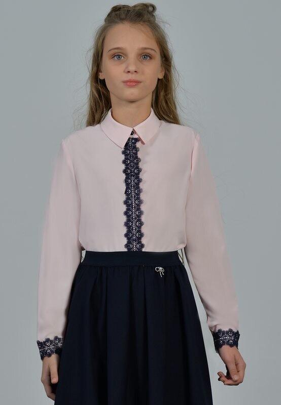 Блуза розовый с синим 14-Р-21