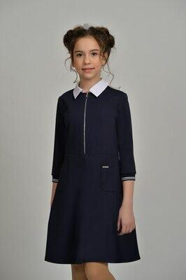 Платье синий 128-21