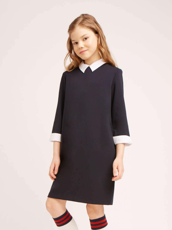 Платье синий 10358
