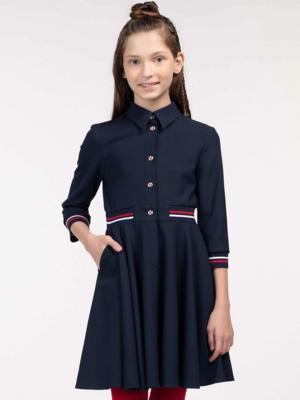 Платье синий 11602