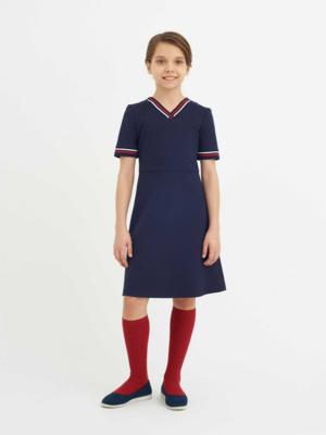 Платье синий 11619