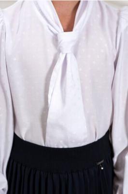 Блуза белый/горох 4083-10зг