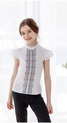 Блуза белый/синий 4029-1