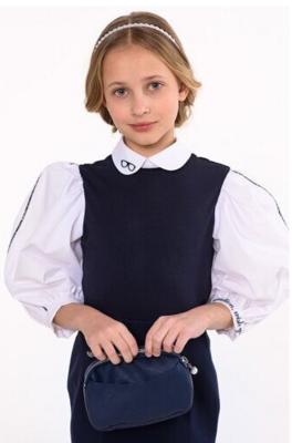Блуза синий/белый 4117-12