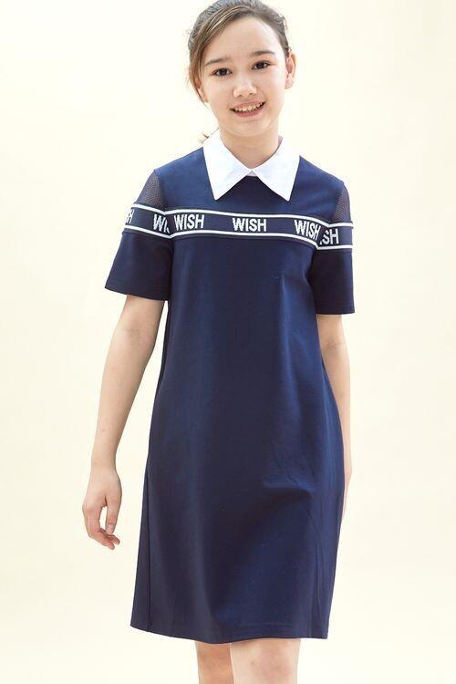 Платье синий Q62708