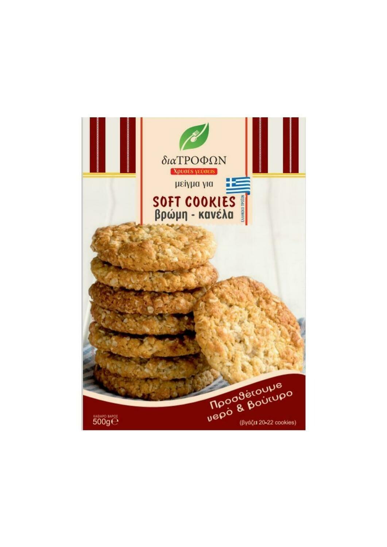 Soft Cookies Βρώμη-Κανέλα  500γρ