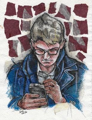 Texting Man