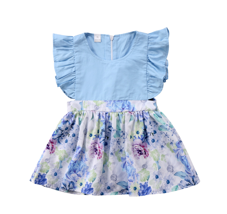 Vestido Blue Flowers