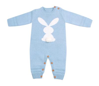 Mameluco Tejido Conejo Azul