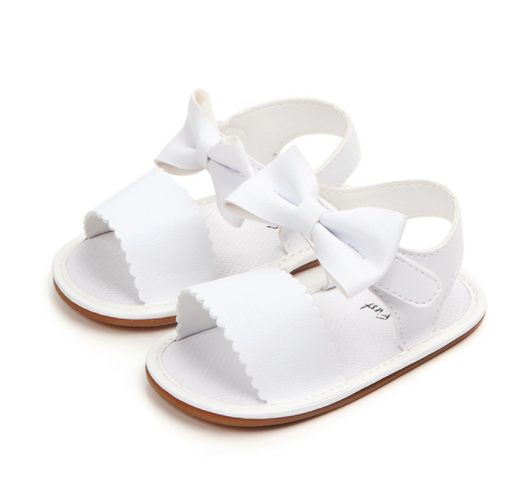 Sandalias con Moño Blancas