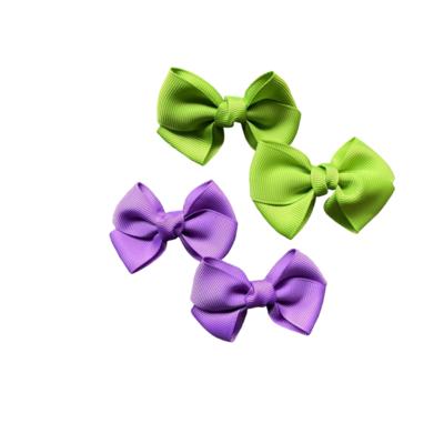 Moños Morado y Verde (4 Piezas)