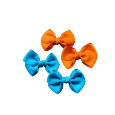 Moños Azul y Naranja (4 Piezas)