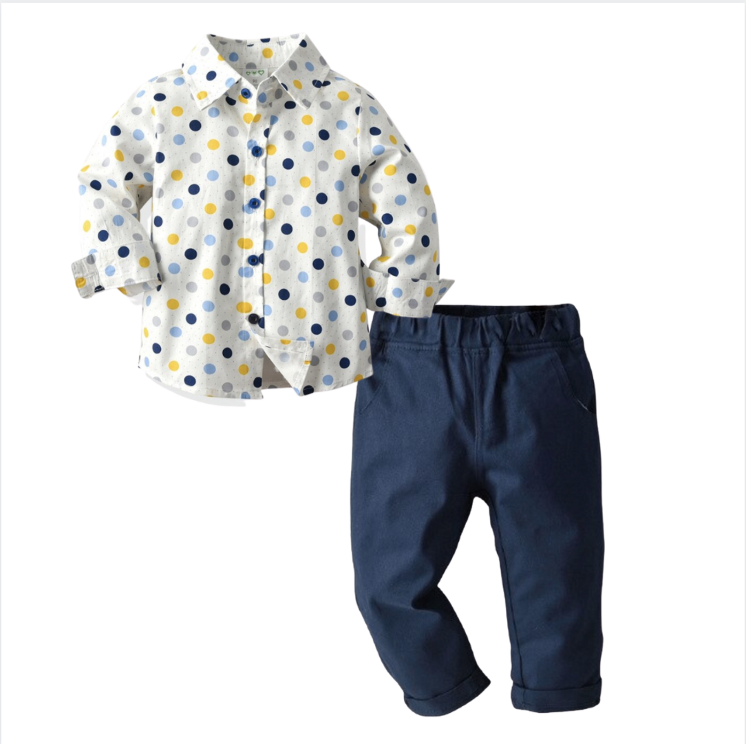 Conjunto Yellow Dots & Denim
