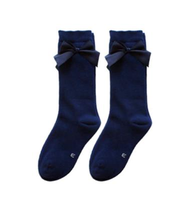 Calcetas Lisas con Moño Navy