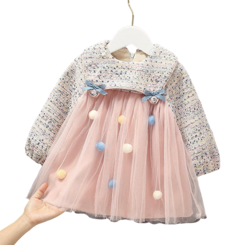 Vestido Alia Pompom Rosa