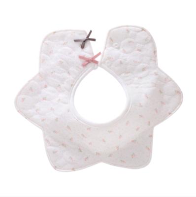 Babero Circular Estrella Blanco