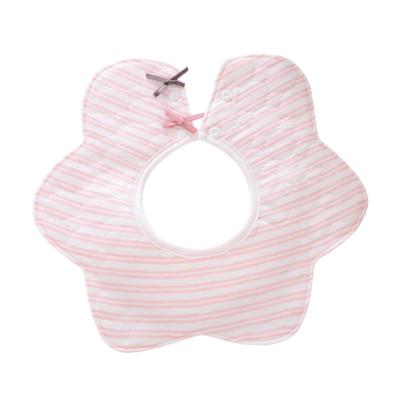 Babero Circular Líneas Rosa