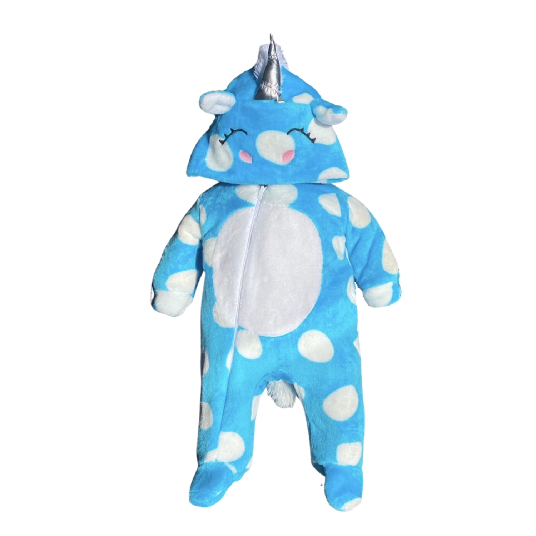 Mameluco Unicornio Azul Ultra Suave