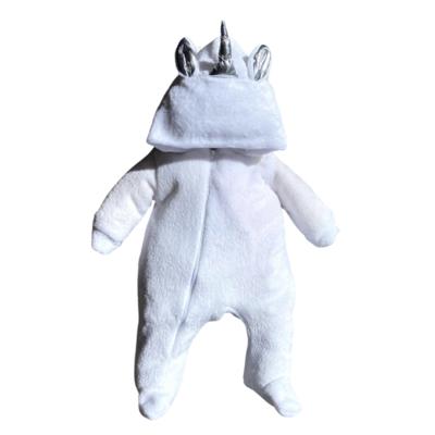 Mameluco Unicornio Blanco Ultra Suave