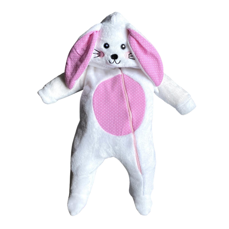 Mameluco Conejo Rosa Ultra Suave
