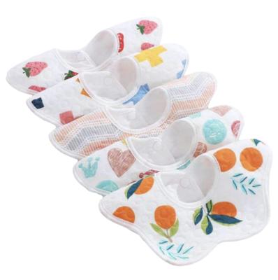 Set 5 Baberos de Frutitas Muselina Impermeable