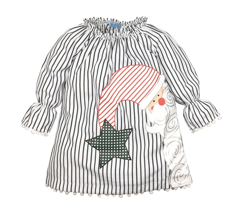 Vestido Santa Stripes