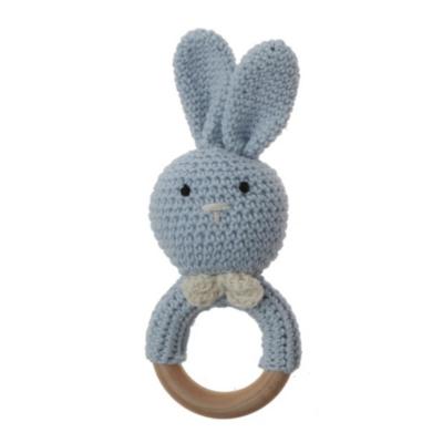 Sonaja Conejito Crochet Azul Claro