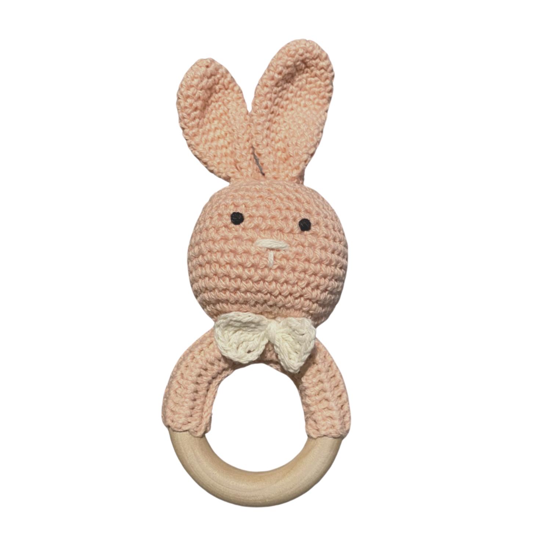 Sonaja Conejito Crochet Rosa Claro