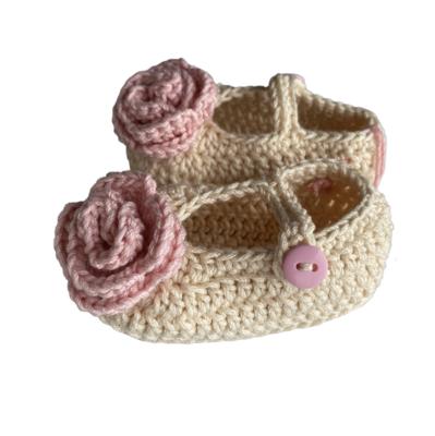 Zapatos Tejidos Crochet Camelia Beige